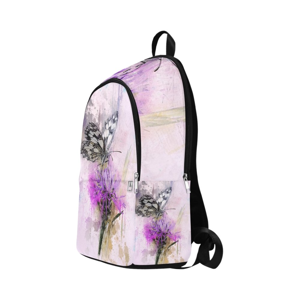 Butterfly Chess Board Macro Knapweed Close Insect Unique Custom Outdoor Shoulders Bag Fabric Backpack Multipurpose Daypacks For Adult