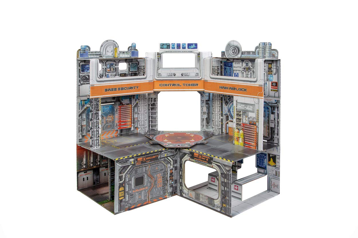 ReadySetz Playsets/Diorama Space Base Scene - Detailed Graphics - No Assembly Required - Foldable!