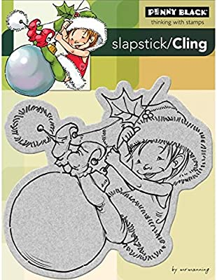 Penny Black 204688 Little Elf Finn Cling Rubber Stamp 4 by 5.25-Inch