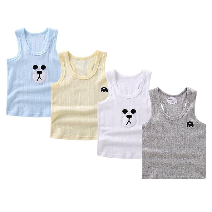 c7d4c9d9b Guozyun 4Pack Baby Boy's Tank Tops Sleeveless T-Shirts Undershirt Cami  Shirts for Toddler Kids