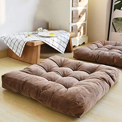 Amazon.com: CNZXCO Thicken Tufted Square Floor Pillow ...