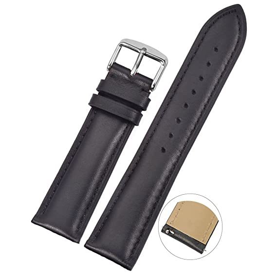 8563f1a17 Watch Band Leather 20mm,Quick Release,Smooth Pattern Replacement Bracelet  Strap Compatible for Samsung