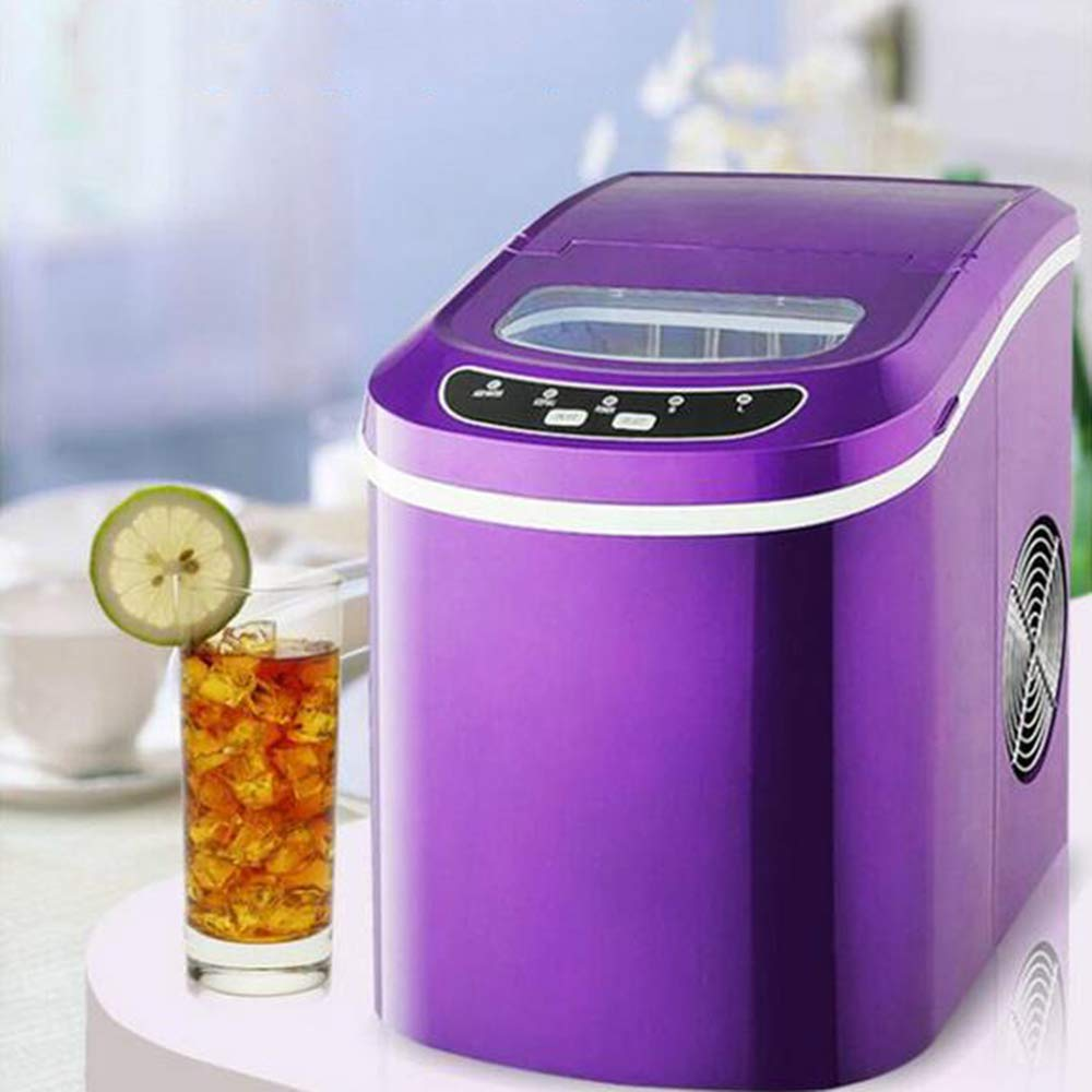 Portable Automatic ice Maker, Household bullet round ice make machine for family, small bar,coffee shop 12kgs/24H,Purple by MEIBING