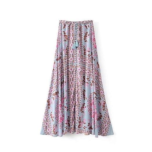 Rawallw-cloth Falda Casual para Mujer Falda Bohemia de Las Mujeres ...
