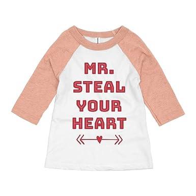 345f2746d Amazon.com: Mr. Steal Your Heart Toddler Raglan: Toddler 3/4 Sleeve Raglan T -Shirt: Clothing