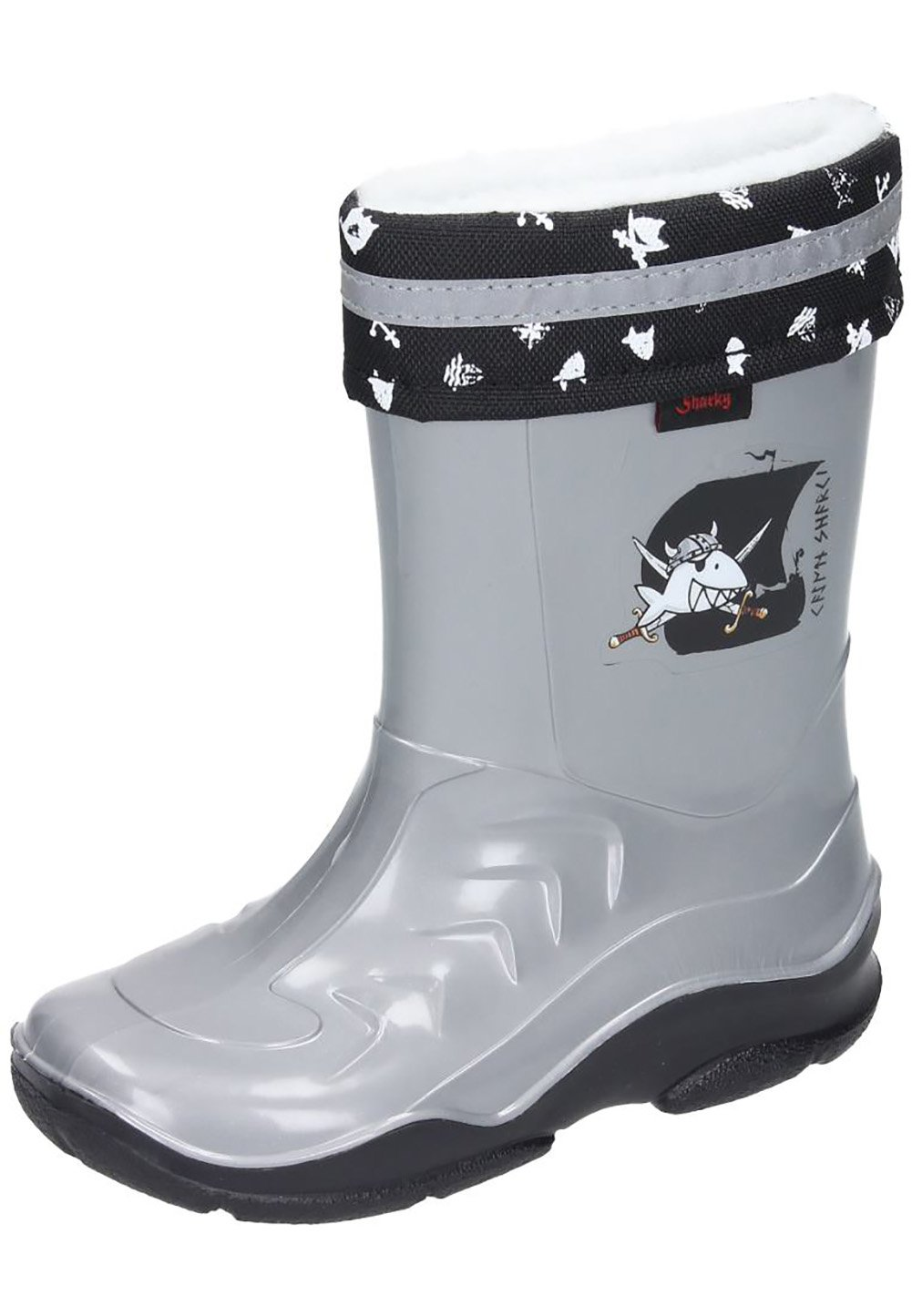 Captn Sharky Boys Warm Lining Boots Anthracite/Black Size 20 M US