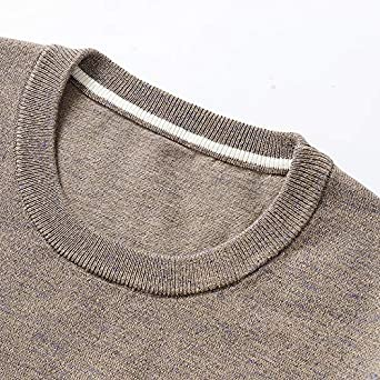 Mens Crewneck Long Sleeve Slim Fit Casual Pullover Sweater Knit Top Outwear