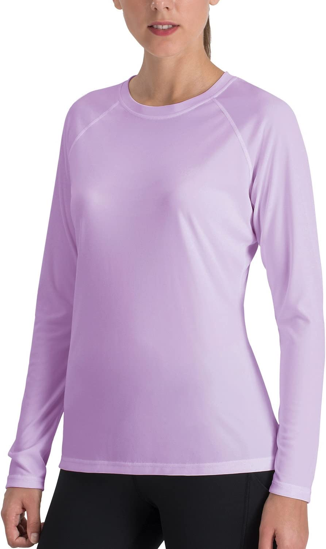 NAVISKIN Damen UPF 50 Langarmshirt atmungsaktives Outdoor-Shirt Skincare Raglan-T-Shirt lockerer Schnitt