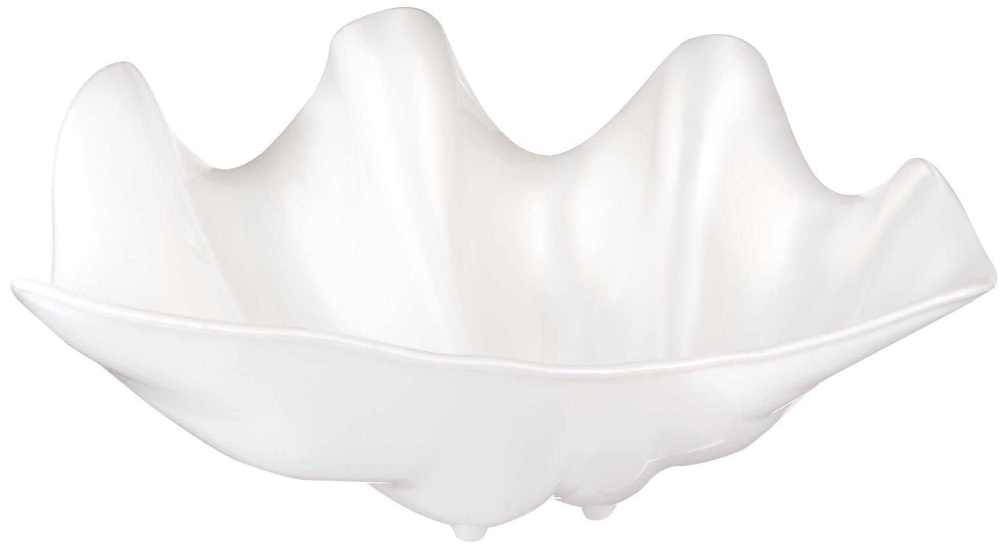 Winco PSBW-5W Shell Bowls, 5-Quart, Pearl