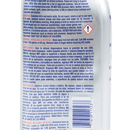 Bar Keepers Friend More Dual Action Nozzle Spray and Foam Cleaner | 25.4 Ounces | 1-Pack
