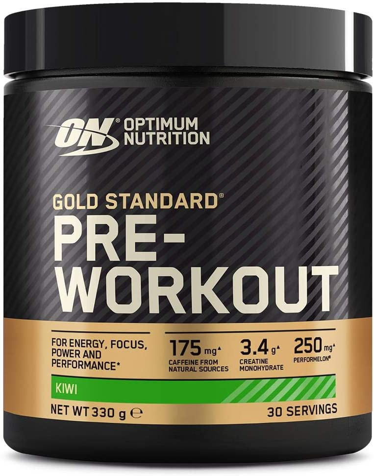 Optimum Nutrition Gold Standard Pre Workout en Polvo, Bebida Energética con Creatina Monohidratada, Beta Alanina, Cafeína y Vitamina B Complex, Kiwi, ...