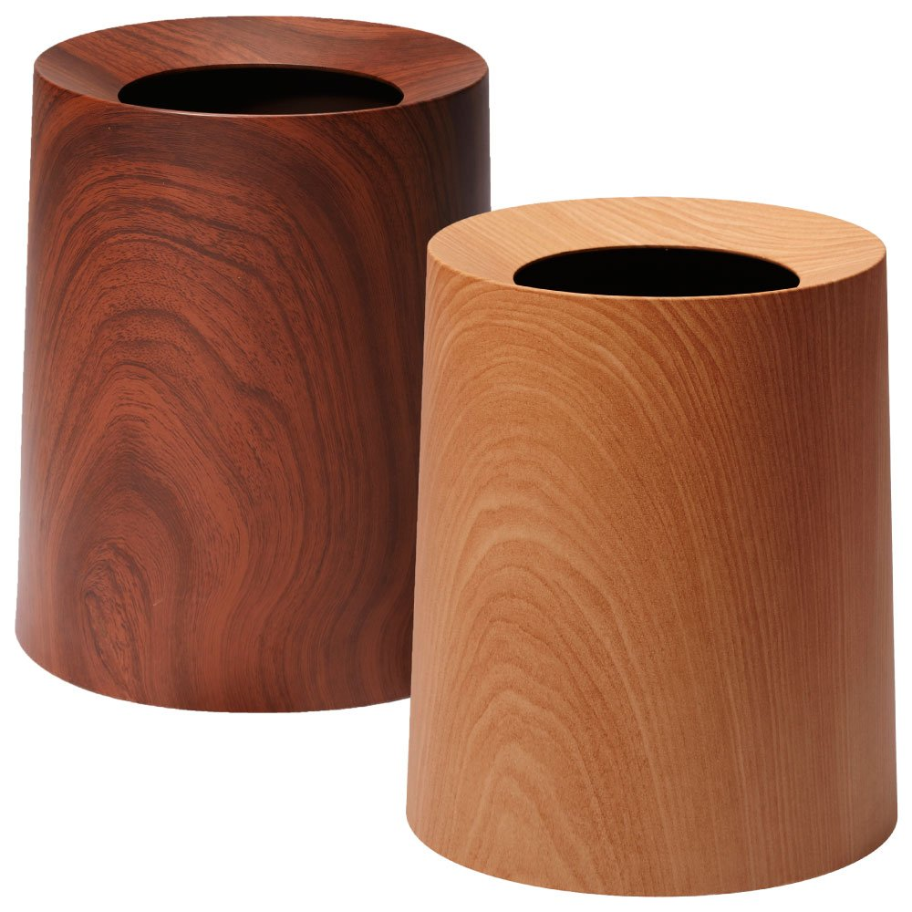 イデアコ ゴミ袋が隠せるゴミ箱 チューブラー オム TUBELOR HOMME 2個セット ごみ箱 ダストボックス (ローズウッド×オークウッド) B01J341476ローズウッド×オークウッド