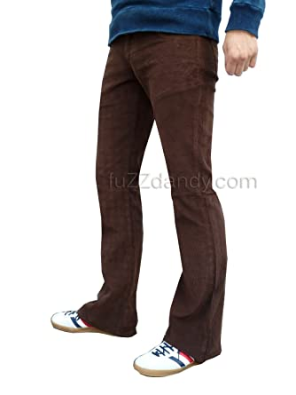 Bootcut brown trousers