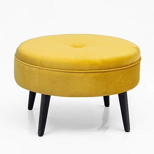 Joveco 23 Round Ottoman Footstool