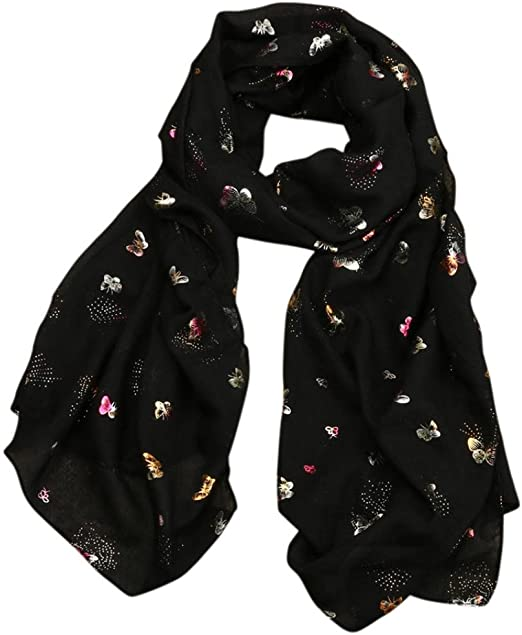 Silk Scarf for Women Lady Fashion Scarves Paisley Shawl Wrap Floral Print Stole