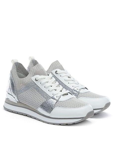 9e0737ba7 MICHAEL Michael Kors Womens Billie Knit Trainer Fabric Low, Aluminum, Size  9.0: Amazon.ca: Shoes & Handbags