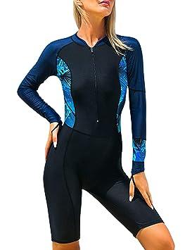 besbomig Traje de Surf para Mujer Full Body Wetsuit Traje de ...