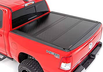Amazon Com Rough Country Low Profile Hard Tri Fold Fits 2019 2020 Ram 1500 5 7 Ft Bed No Rambox Tonneau Cover 47320550 Rough Country Automotive