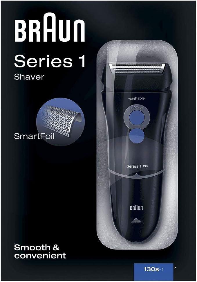 Braun Series 1 130 S-1 - Afeitadora eléctrica para hombre, máquina de afeitar barba, azul oscuro: Amazon.es: Salud y cuidado personal
