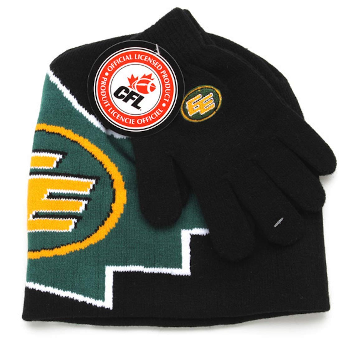 CFL Edmonton Eskimos Boys Winter Hat and Glove Set Gertex