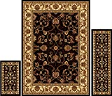 Area Rugs for Living Room Home Dynamix Area Rugs - Ariana Collection 3-Piece Living Room Rug Set - Ultra Soft & Super Durable Home Dcor - HD812-657 Ebony/Ivory