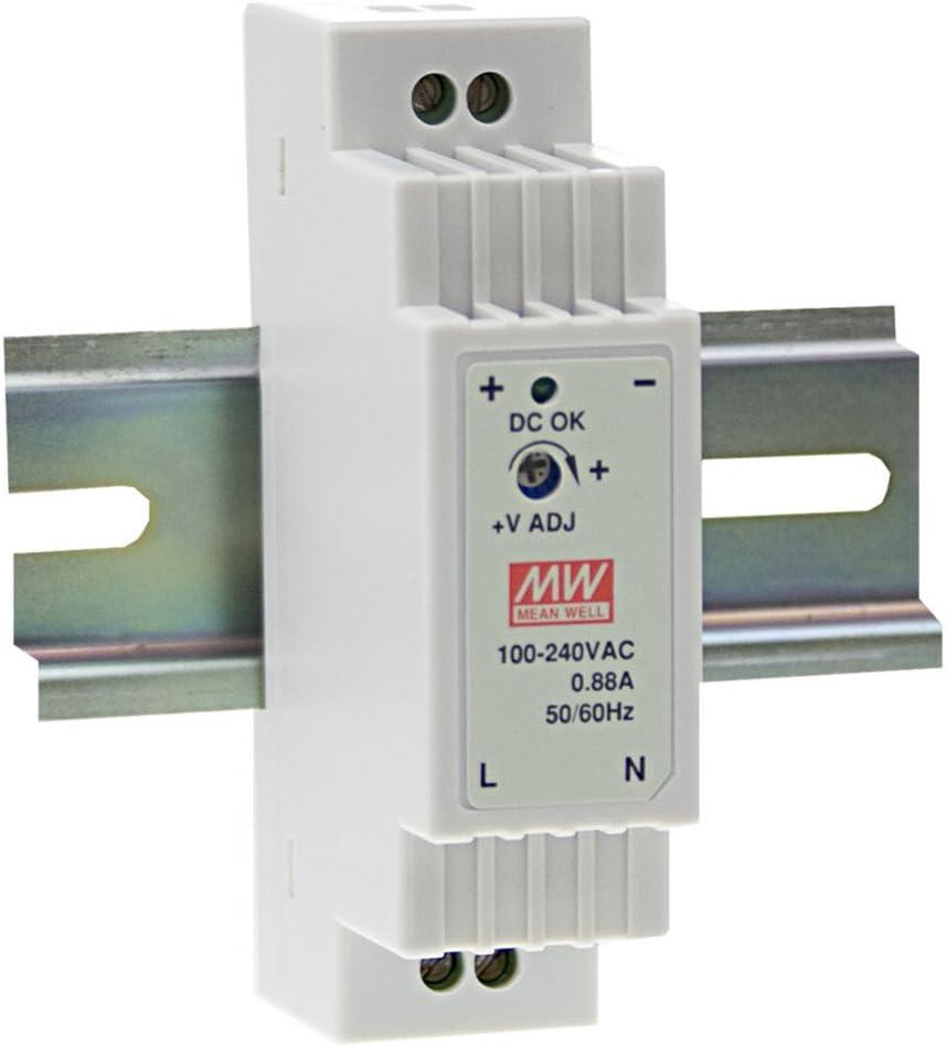 Din-Rail Fuente de alimentación 12W 5V 2,4A ; MeanWell, DR-15-5