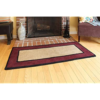Minuteman International Contemporary II Berry Wool Hearth Rug, Rectangular