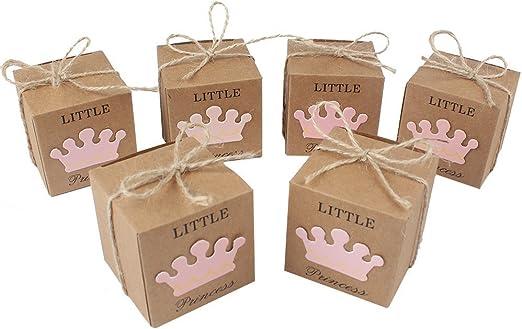 doshop 50 pcs Principito bebé ducha favor caja con yute Twines ...