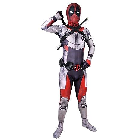 QQWE Deadpool Zentai Cosplay Disfraz Los Vengadores 4 Traje ...