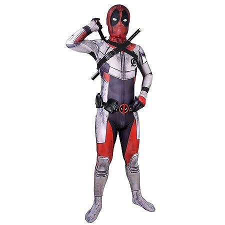 QQWE Deadpool Zentai Cosplay Disfraz Los Vengadores 4 Traje de ...