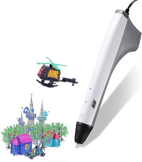 RIGHTWELL Pluma 3D de Impresión, USB Lápiz 3D Juguetes ...
