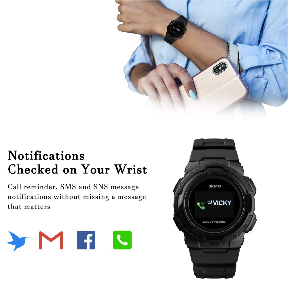 Smart Watch for Men Compatible with Android iPhone Samsung, Heart Rate Blood Pressure Oxygen Sleep Monitor Pedometer GPS, Waterproof Sport Fitness Tracker Smartwatch by LB LIEBIG (Image #7)
