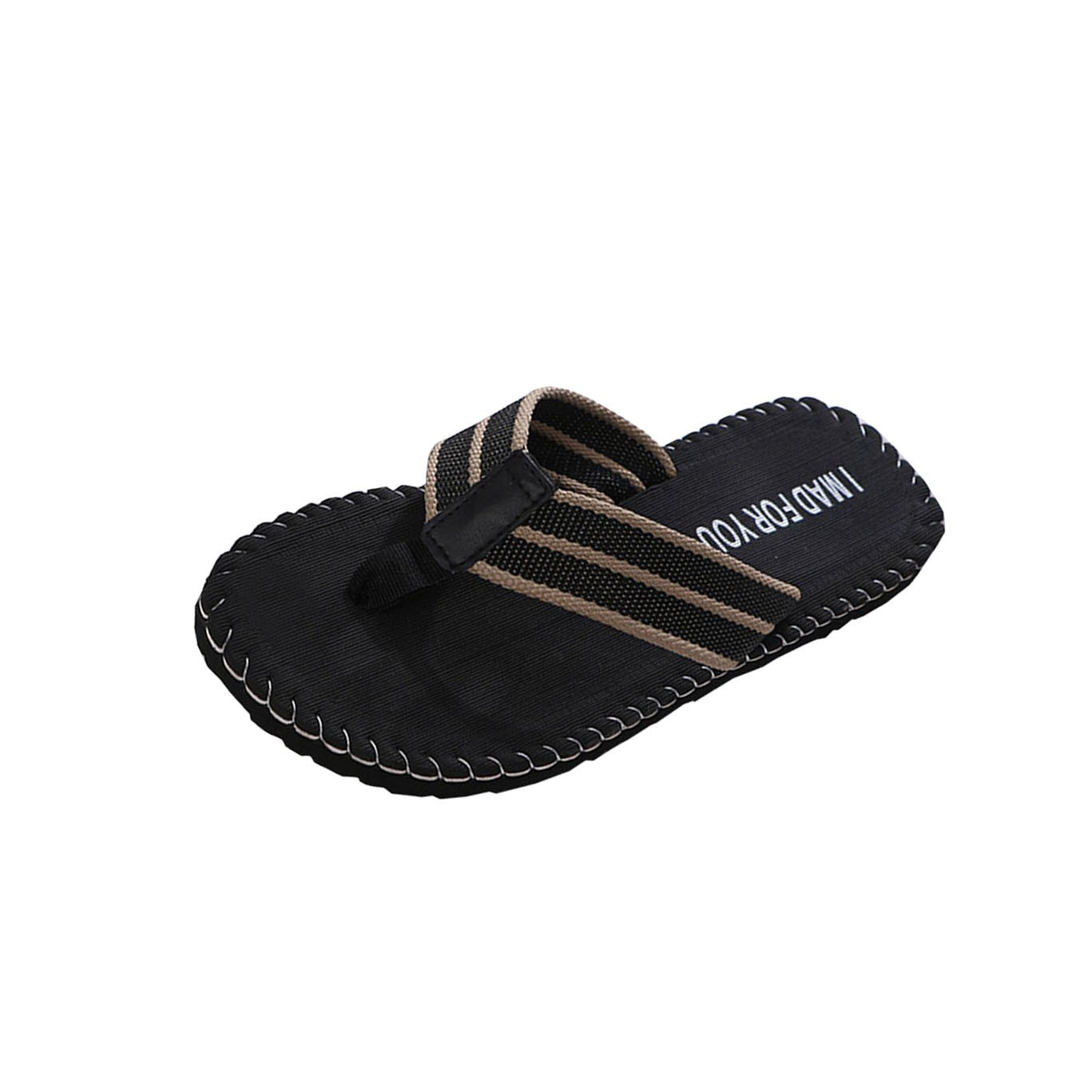 Sunyastor Men Slippers,2019 New Men's Summer Stripe Flip Flops Shoes Sandals Male Slipper Indoor Or Outdoor Beach Flip-Flops Black