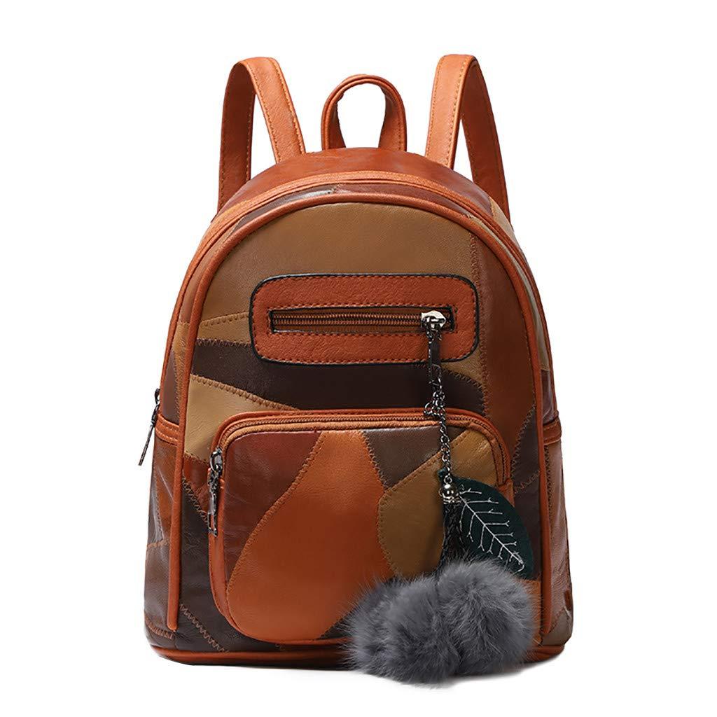 Sinzelimin Girl's School Rucksack College Bookbag Lady Travel Backpack Patchwork Laptop Bag eisure Travel Bag