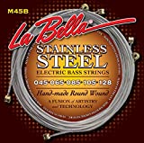 LaBella M45-B Stainless Steel Round Wound Bass Strings, 5-String Light 45-128