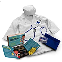 DIY jr My First Stethoscope Doctor's Kit - Real Stethoscope for Kids - Includes Lab Coat, Surgical Cap, Name Tag and…