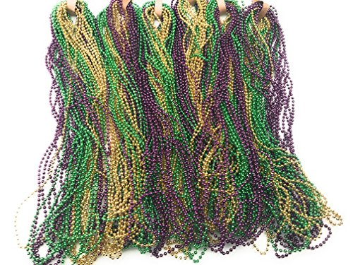 - Oojami Mardi Gras Beads (144 Pieces)