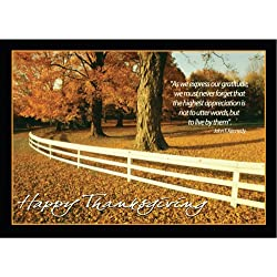 TH8004 Thanksgiving Greeting Card. 25 Cards and 26 Gold foil Lined envelopes.