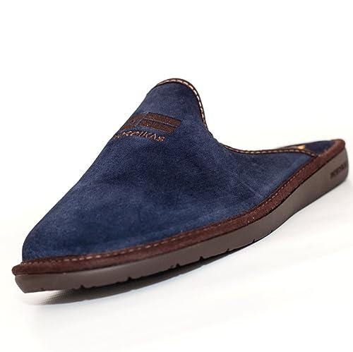 Nordikas, 236, Chinela paño azul marino de Hombre: Amazon.es: Zapatos y complementos