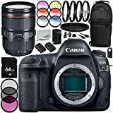Canon EOS 5D Mark IV DSLR Camera with Canon EF 24-105mm f/4L IS II USM Lens 14PC Accessory Kit - Includes 3 Piece Filter Kit (UV + CPL + FLD + MORE - International Version (No Warranty)