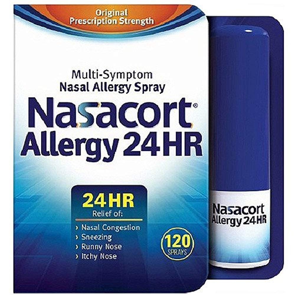 Nasacort Allergy 24 Hr Multi-symptom Nasal Allergy Relief Spray, 120 Count