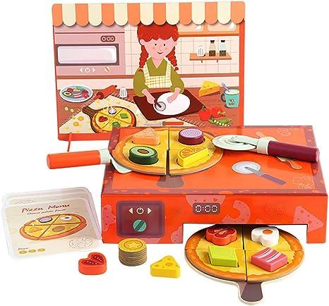 Duquanxinquan Play - Juego de mesa para niños de madera, pizza frutas y verduras, juego educativo para bebés y niños: Amazon.es: Electrónica