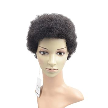 Razeal Afro 2 Short Afro Kinky Curly Wig With Brazilian Hair Black Human Hair Wigs