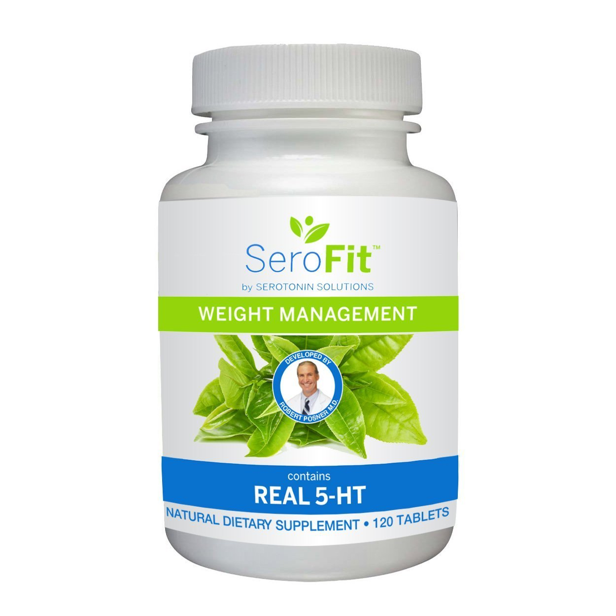 SeroFit Serotonin Weight Management Supplement with REAL 5-HT - Effective Weight Loss and Appetite Suppressant for Men and Women (120 Caplets) by SEROFIT