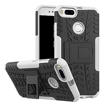 SMTR Xiaomi Mi A1 Funda, [Heavy Duty] Híbrida Rugged Armor Case Choque Absorción Protección Dual Layer Bumper Carcasa con pata de Cabra para Xiaomi Mi ...