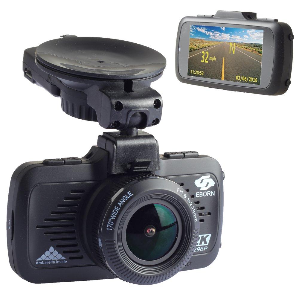 L'enregistreur de conduite HD EBORN avec GPS Caméra de Voiture, à grand angle 170°, 1080P 1296P, écran 2.7 pouces, avec carte mémoire 32G, surveillance au stationnement à grand angle 170° écran 2.7 pouces EBORN TECH EB-G01