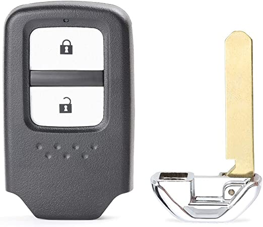Replacement Remote Key Fob 2 Button FSK 433Mhz ID47 for Honda Jazz Civic 2014-17