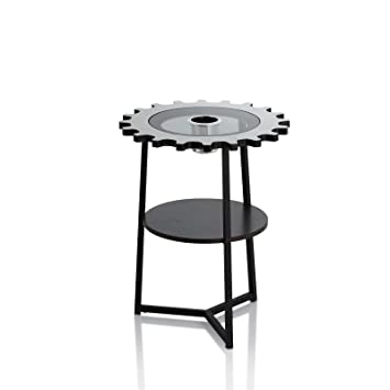 Ottmar Coffee Table Metal Modern Wine Drinks End Table With Ice