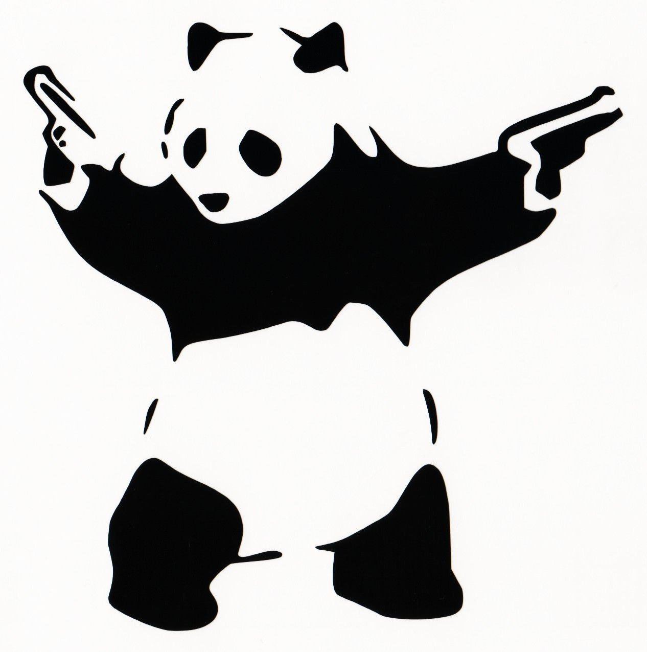 Banksy panda with guns sticker truck stickers logos and vinyl - Amazon Com Panda With Guns Sticker Decal Car Bumper Bansky Windows Art Vinyl Truck 5 5 Inches White Arts Crafts Sewing