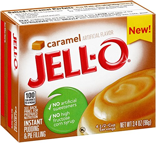 JELL-O Caramel Instant Pudding and Pie Filling Mix, 3.4 Ounce (Pack of 24) - Instant Caramel